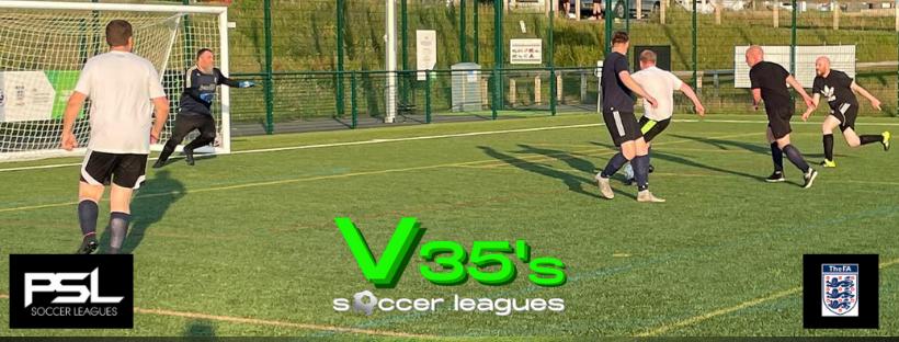 V35's soccer leagues Logo